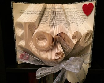 Love book folded design