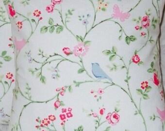 2 x Handmade Clarke & Clarke bird trail in chintz cushion covers