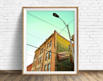 "architecture, large art, large wall art, instant download, instant download printable art, photography, print, wall art - ""Ghost Ad Alley"""