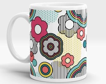 Pop Floral mug - Pop Art - Retro - 60s