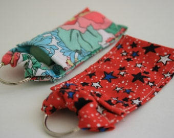 Lipstick case with key chain
