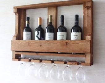 wooden wine rack kitchen shelf rustic wine rack rustic wall decor rustic