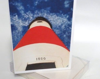 Nantucket up at Sankaty lighthouse note cards
