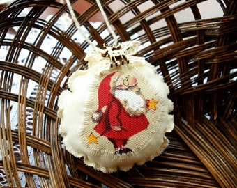 Christmas decoration, perfumed with clove, reindeer button