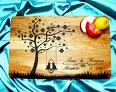 Wedding Gift for the couple Personalized cutting board Wedding Cutting Board Love Tree custom cutting board