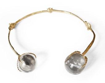 Labrinth Bone Quartz Necklace