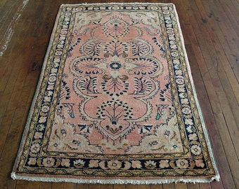 "Vintage Persian Lilihan Rug 3'4""x5'0"" - Hunttrugs"
