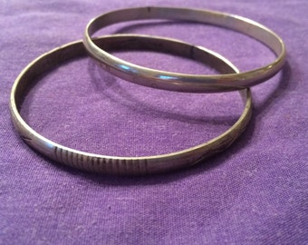 Vintage Pair of silver bangles