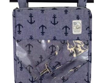 Navy Denim Anchor 3 Hour Bag