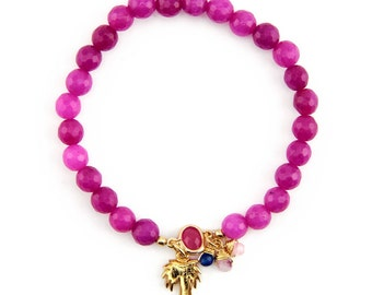 Mia Fuchsia beaded bracelet