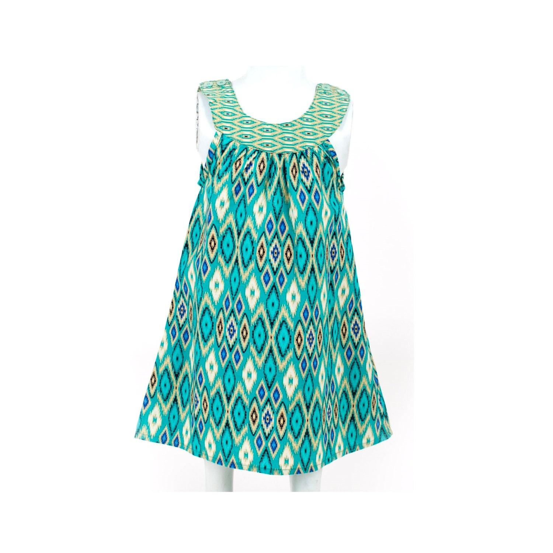 Girl Batik Dress / Ikat Dress / Girls Dress / Baby Girl Dress