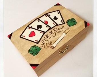 Wooden box - Pyrography