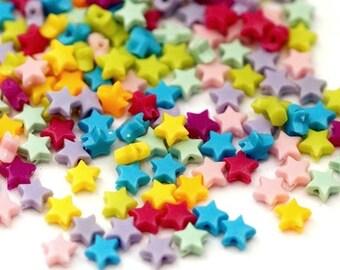 150 plastic beads asterisk