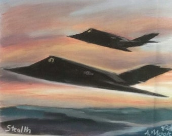 Stealth Fighters at Sunset