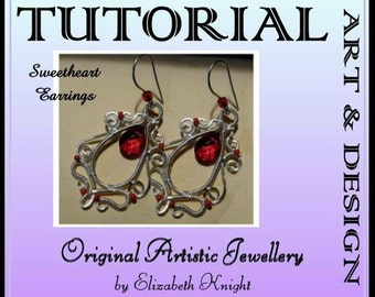 Wire Wrapping Step-by Step-Tutorial Sweetheart Earrings Instant Download