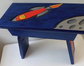 Space rocket stool