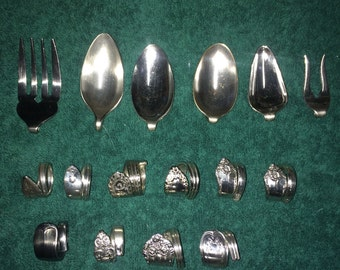 Spoon rings and pendants