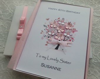 Boxed Birthday Card Handmade Personalised 3D 16th 18th 20th 30th 40th 50th 60th 70th 80th Mother Grandmother Aunt Sister Daughter