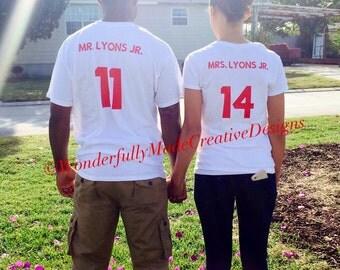 Just Married--Honeymoon Shirts--Cruise--Mr. & Mrs.