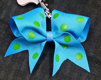 Teal and Green Key Chain Bow