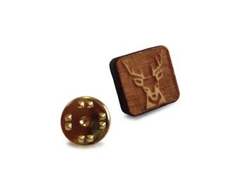 Wooden Tie Pin: Deer FREE WORLDWIDE SHIPPING