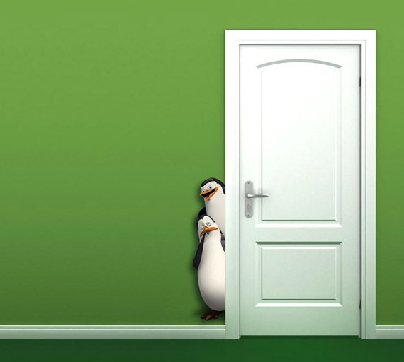 3d penguins madagascar wall sticker by laradecor on etsy rmk2702scs madagascar wall stickers