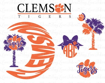 Clemson Tigers Design for Silhouette and other craft cutters (.svg/.dxf/.eps/.pdf/.png)