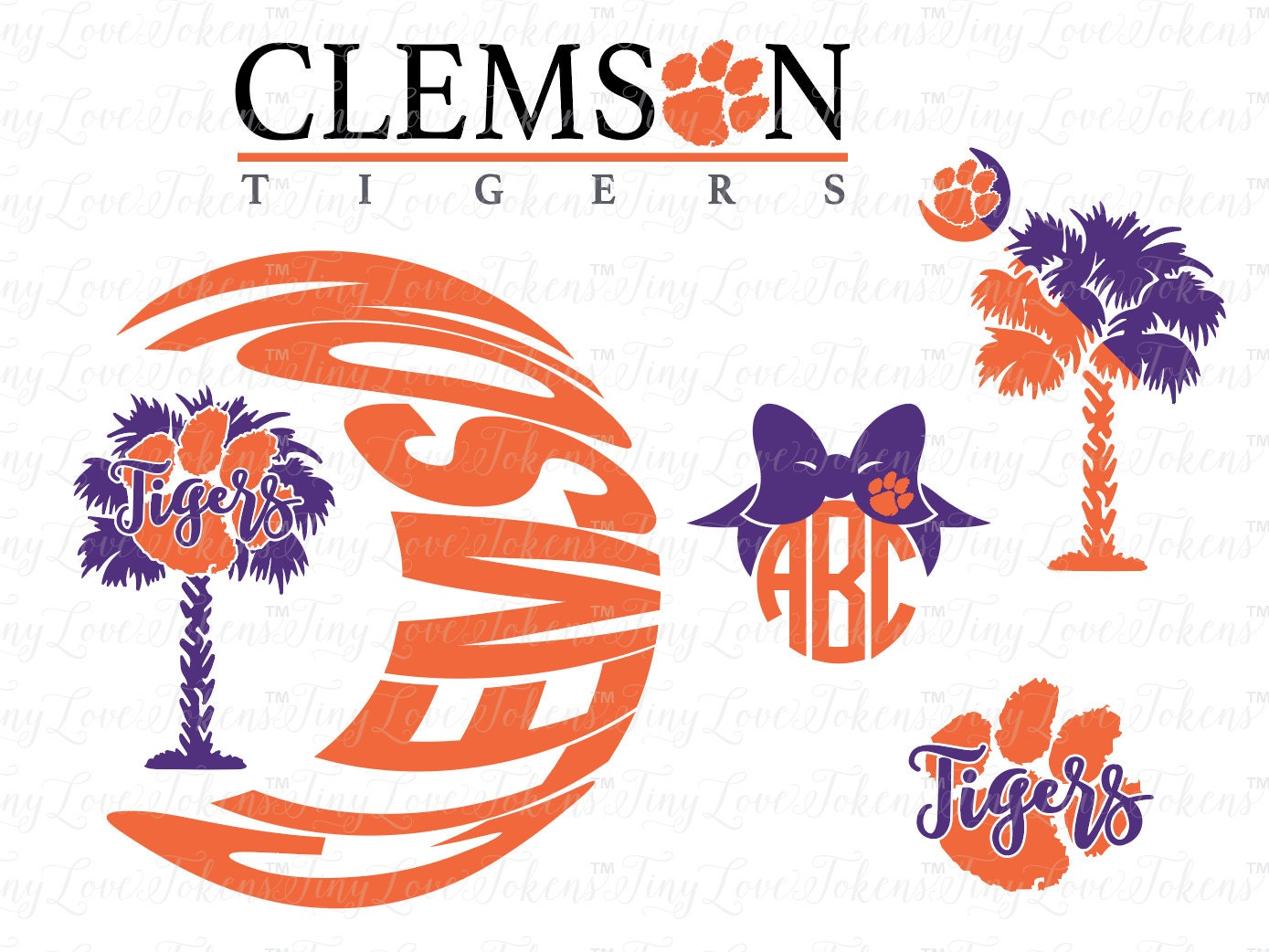 Design craft Silhouette other for Tigers  and Clemson