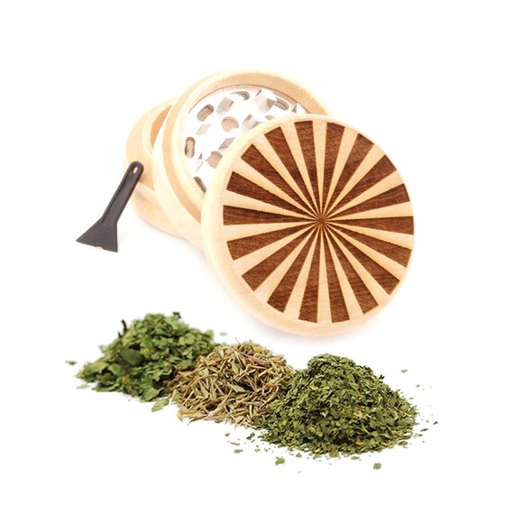 Beam Engraved Premium Natural Wooden Grinder Item # PW91316-19