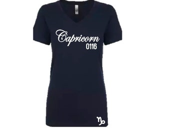 Capricorn Women's Birthday  Personalized T-Shirt/Tee