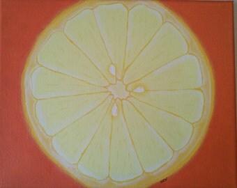 8 x 10 Canvas Painting/ Lemon