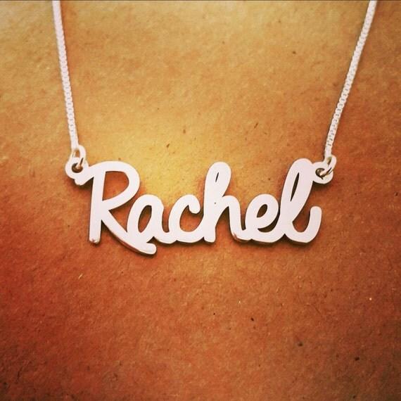 Rachel Stil Halskette Silber Name / einzigartige Geschenk /