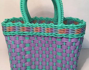Hand Weaved Plastic Market Grocery Bag