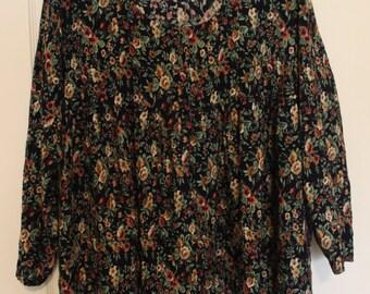 90s Vintage floral tunic/dress