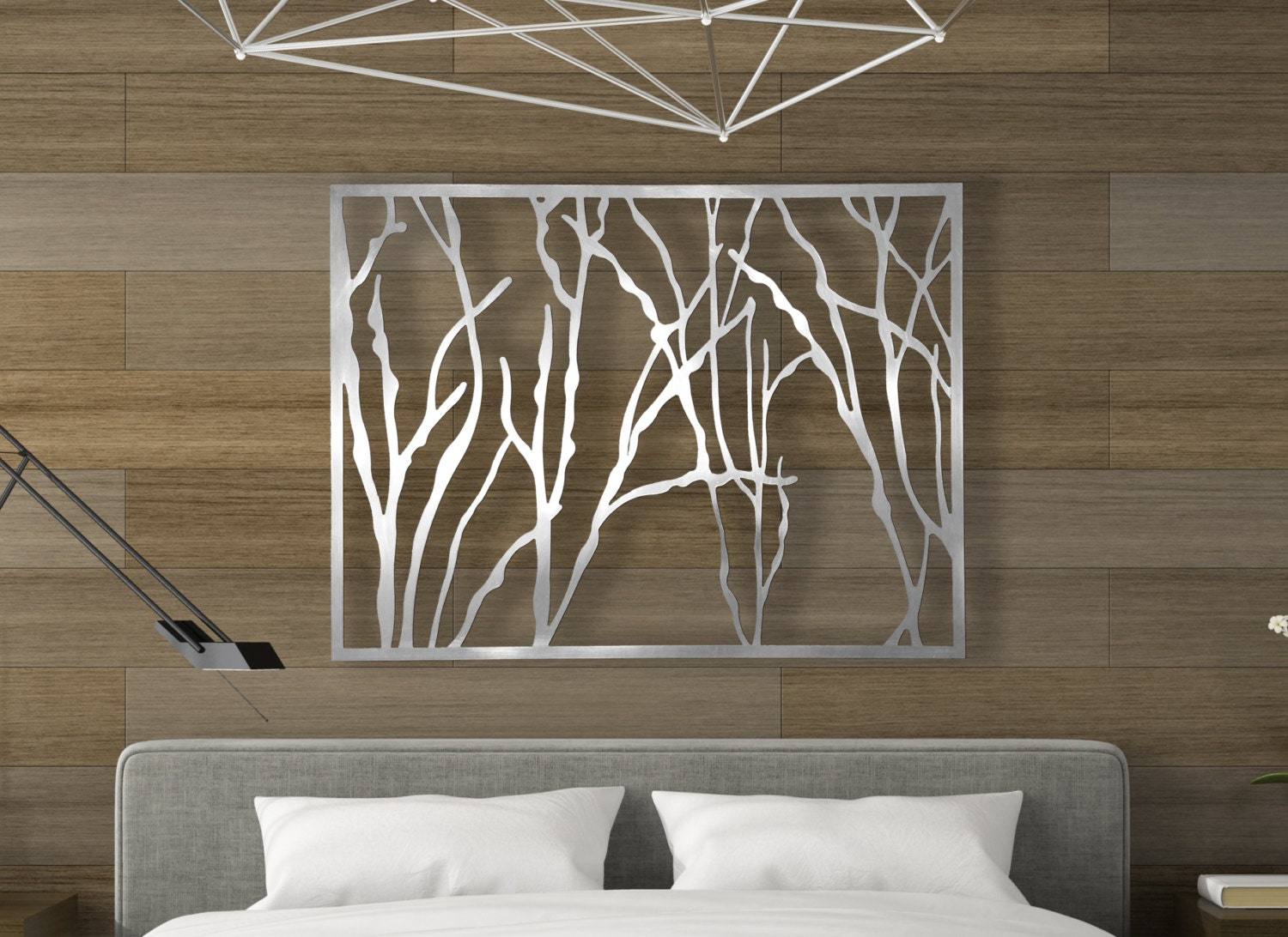 Laser cut metal decorative wall art panel sculpture for home for Unique wall art
