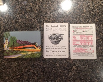 Vintage Southern Pacific Lines Playing Cards 1943 With Booklet
