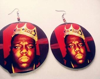 Notorious BIG biggie smalls hip hop earrings