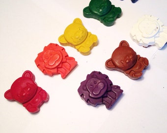 Zoo Animal Crayons - Set of 10 - Recycled Crayons - Animals - Stocking Stuffer - Party Favor - Kids Birthday - Zoo Party - Animal Theme