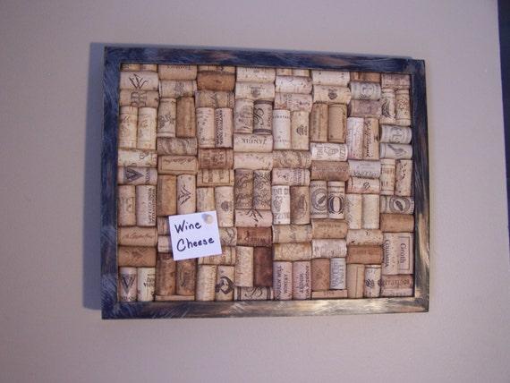 Wine cork memo board modern decor message by for Modern cork board