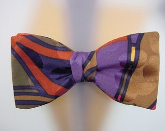 One-of-a-Kind Bow Tie - Hand Painted Silk Men's Accessory - Hand Made in USA