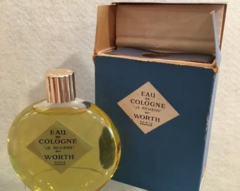 Vintage Worth Cologne JE REVIENS 2 1/4oz Cologne Lalique Bottle