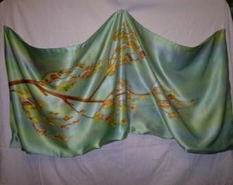 "Silk scarf ""autumn Leaves"""