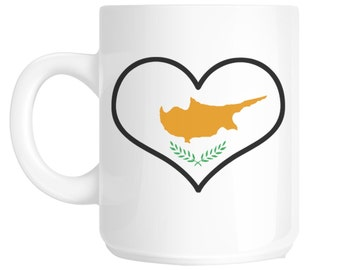 I Love Heart Cyprus Flag Design Gift Mug shan63