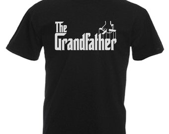 Grandfather Grandad Dad Gift Adults Mens Black T Shirt Sizes From Small - 3XL