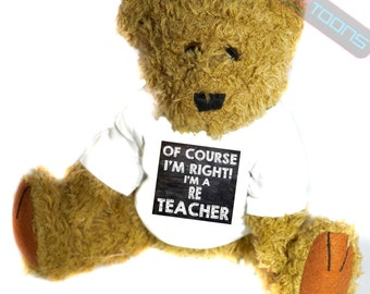 RE Teacher Novelty Gift Teddy Bear