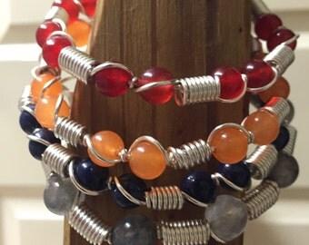gemstones summer wire bracelet