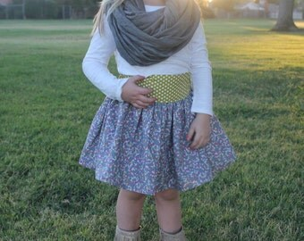 Toddler Twirl Skirt, Girls Skirt, Back to School Skirt, Fall Skirt