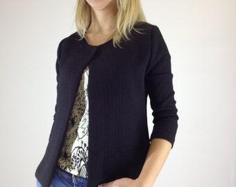 Black jacket, Elegant jacket, Women jacket, Minimalist jacket