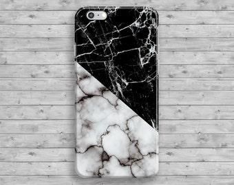 White iPhone 7 Case, Marble iPhone 6 Case, Black Marble iPhone 7 plus case, iPhone 6S Plus, iPhone SE, 4 4S 5 5S 5C Geometric Cool Granite