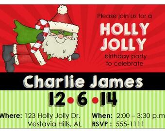 Christmas birthday invitation